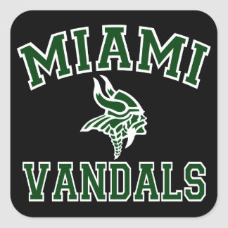 Miami Vandals Square Sticker