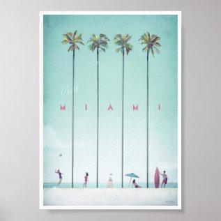 Miami Vintage Travel Poster at Zazzle