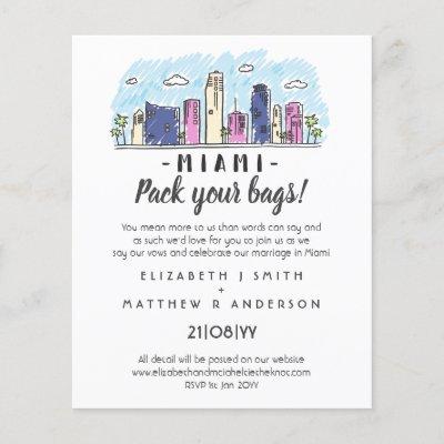 MIAMI Wedding Handdrawn Destination Modern