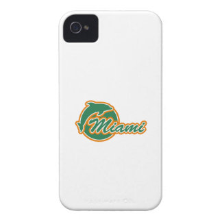 Miami with Dolphin iPhone 4/4S Case-Mate B.T. iPhone 4 Case-Mate Case