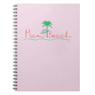 Miami with Palm and Umbrella Notebook