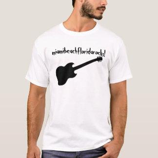 ¡miamibeachfloridarocks! guitarra negra playera