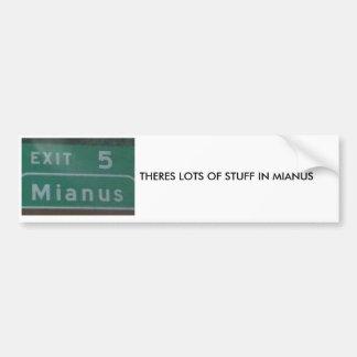 mianus bumper sticker