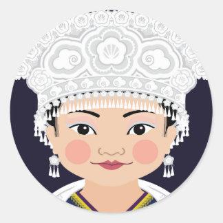 Miao Chinese Matryoshka Sticker