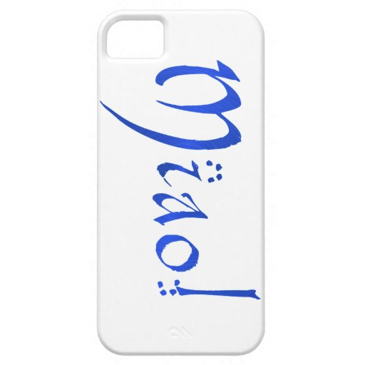 ¡Miao!  en caja azul del iPhone iPhone 5 Cobertura