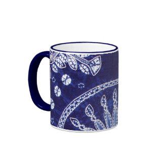 Miao Indigo Tie-Dye #4 Ringer Coffee Mug