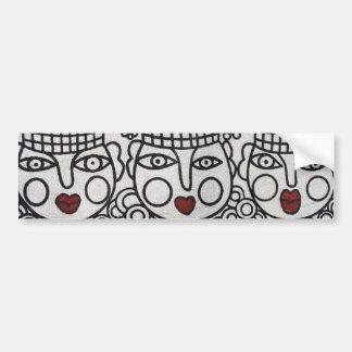 Miao Screen Print: 3 Royal Ladies Bumper Sticker