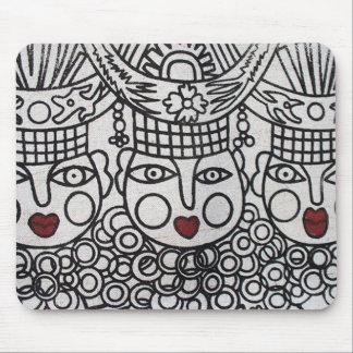 Miao Screen Print: 3 Royal Ladies Mouse Pad