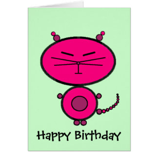 Miaow Kitty Cat Greeting Card