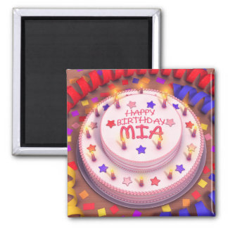 Mia's Birthday Cake Magnet
