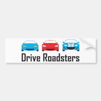 miata 3 gens car bumper sticker