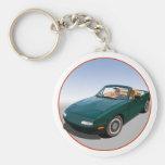 Miata Basic Round Button Keychain