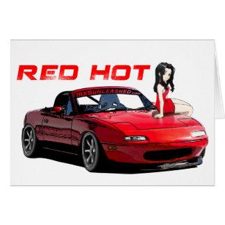 Miata MX-5 Red Hot Greeting Card