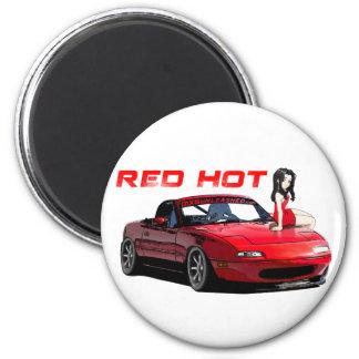 Miata MX-5 Red Hot Refrigerator Magnet