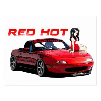 Miata MX-5 Red Hot Postcard