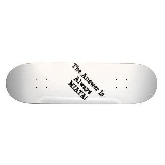 "Miata Skateboard Deck: ""The Answerer Is... Miata!"""
