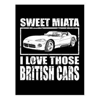 Miata Viper british car joke Postcard