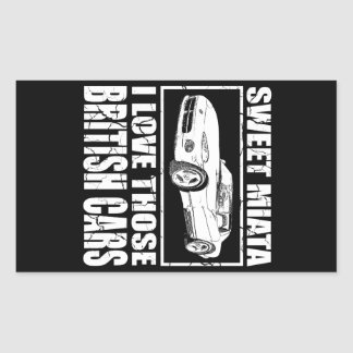 Miata Viper british car joke Rectangular Sticker