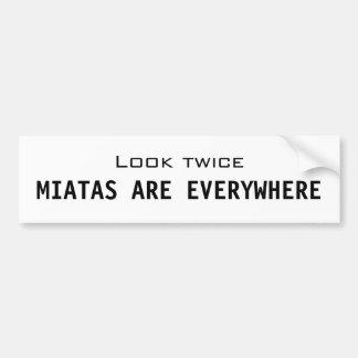 Miatas are everywhere car bumper sticker