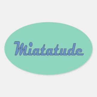 Miatatude Attitude oval sticker