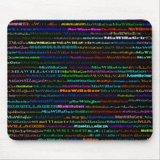 MiaWillaGeir Text Design I Mousepad
