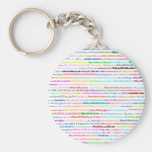 MiaWillaGeir Text Design II Keychain