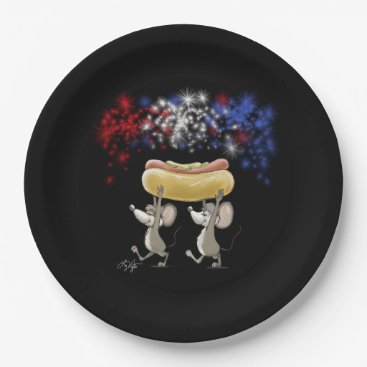 USA Themed Mic And Mac's 4th Of July Night Paper Plate