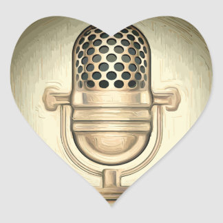 Mic check heart sticker
