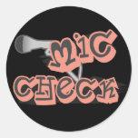 Mic Check Stickers