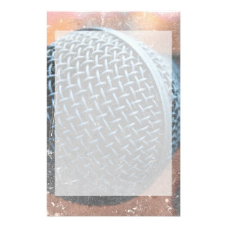 mic close up photo grunge overlay color music stationery