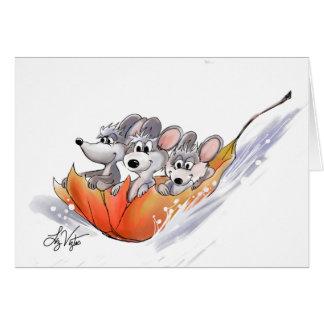 Mic, Mac And Moe's Winter Holiday Card