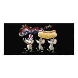 Mic, Mac & Moe's 4th Of July Night Picnic Bookmark Rack Card