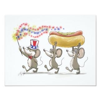 Mic, Mac & Moe's Happy 4th of July Invitations