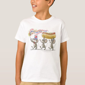 Mic, Mac & Moe's Happy 4th of July kid's T-Shirt