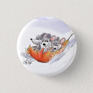 Mic, Mac & Moe's Winter Holiday Button