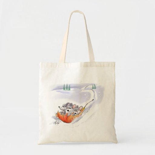Mic, Mac & Moe's Winter Holiday Landscape Tote Tote Bags