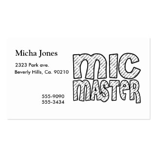 Mic Master Funky Fresh Business Cards