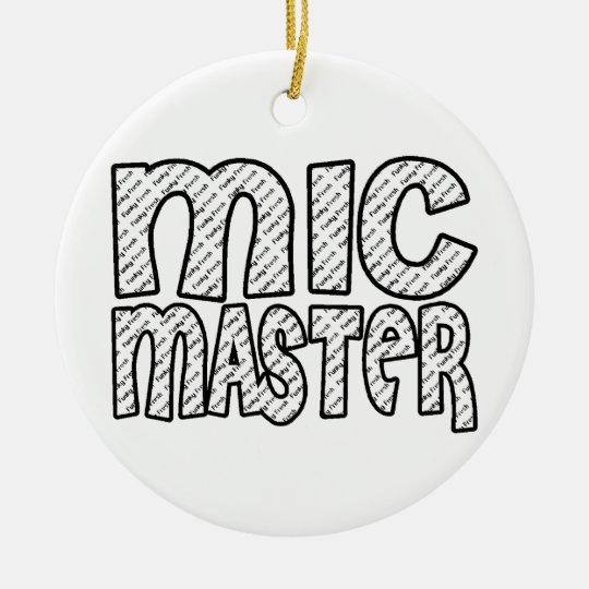 Mic Master Funky Fresh Ceramic Ornament