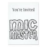 Mic Master Funky Fresh Custom Invitations