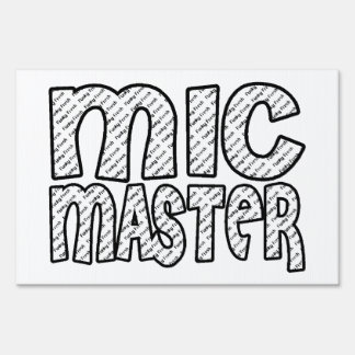 Mic Master Funky Fresh Lawn Sign