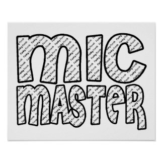 Mic Master Funky Fresh Posters
