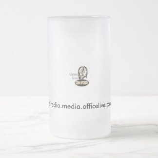 mic_onair, wtfradio.media.officelive.com 16 oz frosted glass beer mug