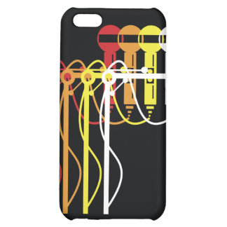 Mic stand gradient iphone4 cover for iPhone 5C