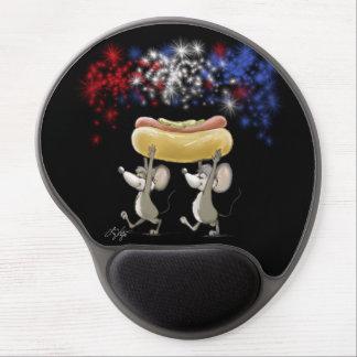 Mic y mac 4to del gel Mousepad de la noche de juli Alfombrillas De Ratón Con Gel