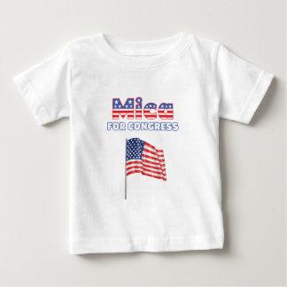 Mica for Congress Patriotic American Flag Design Shirt