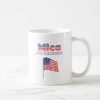 Mica para el diseño patriótico de la bandera ameri taza de café