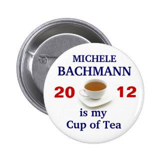 Micaela Bachmann es mi taza de té Pin Redondo De 2 Pulgadas