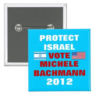 Micaela Bachmann Israel 2012 Pin Cuadrado