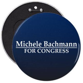 Micaela Bachmann para el congreso Pin Redondo De 6 Pulgadas
