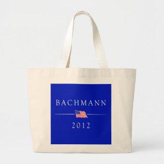 Micaela Bachmann para el presidente 2012 Bolsa De Tela Grande